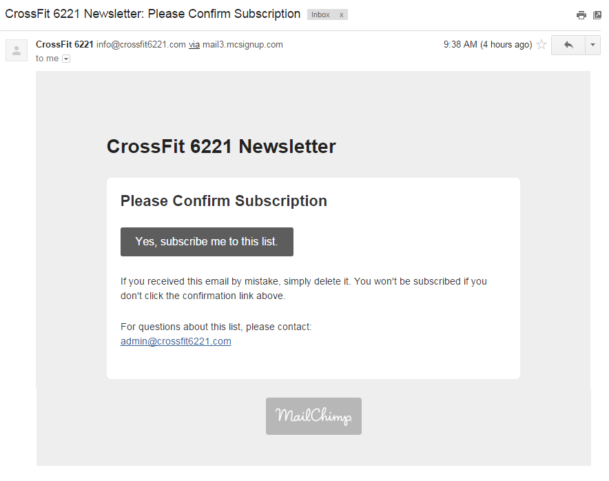 CrossFit 6221 Newsletter